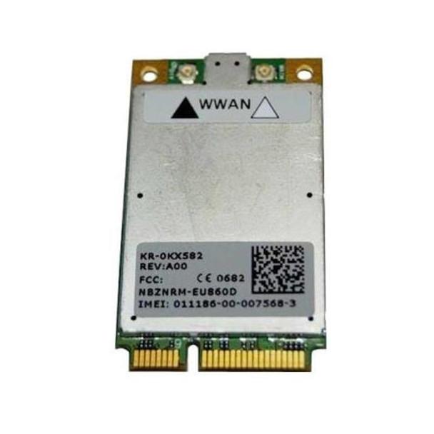 KX582 Dell Wireless 5520 Mini-PCI Express 3G Broadband WWAN Card