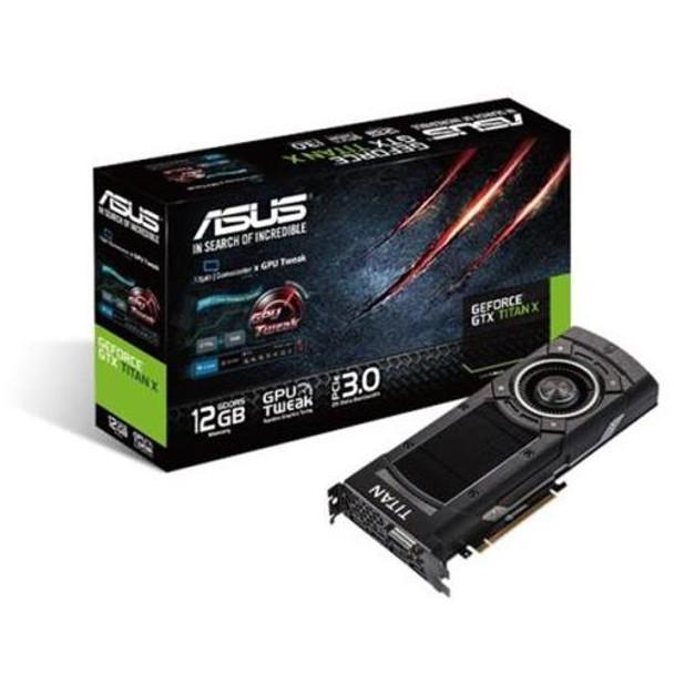 GTXTITANX-12GD5 ASUS GeForce GTX TITAN X 12GB GDDR5 384-bit DVI-I/ HDMI/ 3x DisplayPort/ HDCP Ready SLI Support PCI Express 3.0 Video Graphics Card