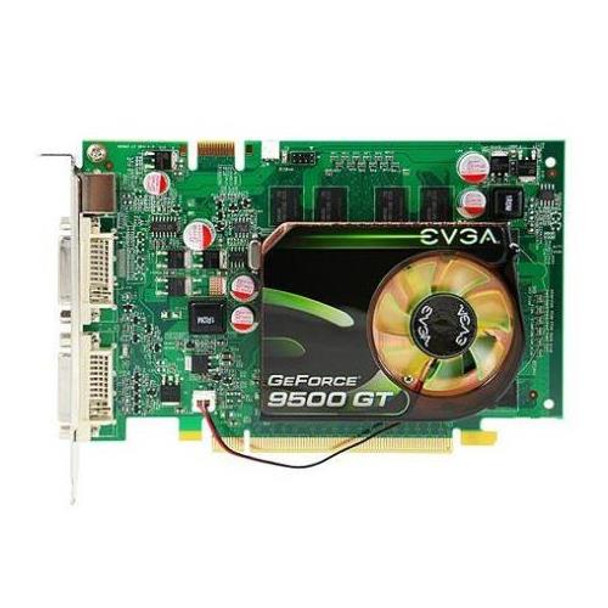 9500GT EVGA GeForce 9500 GT 512MB 128-Bit DDR2 PCI Express 2.0 x16 HDCP Ready/ SLI Support Video Graphics Card
