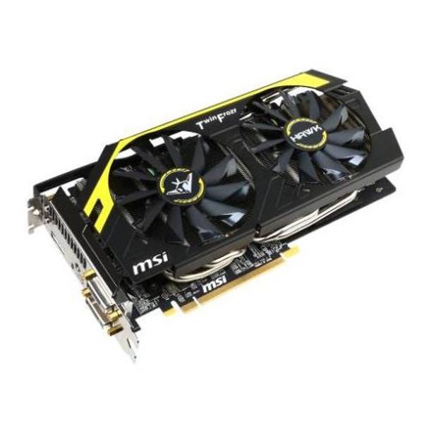 R9-270X-HAWK MSI Radeon R9 270X 2GB GDDR5 256-Bit PCI Express 3 0 Dual-link  DVI/ HDMI/ DisplayPort/ HDCP Support Video Graphics Card