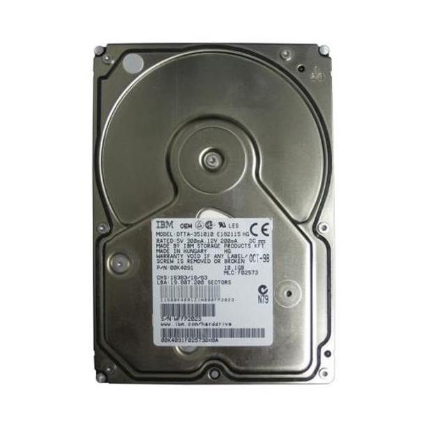 00K4091 IBM 10GB 5400RPM ATA 33 3 5 512KB Cache Deskstar Hard Drive
