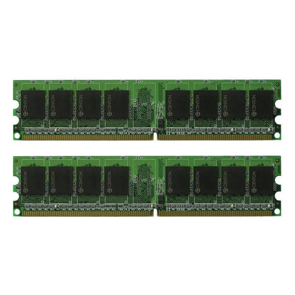 1GBPCKIT533APL Centon Electronics 1GB (2x512MB) DDR2 Non ECC PC2-4200 533Mhz Memory
