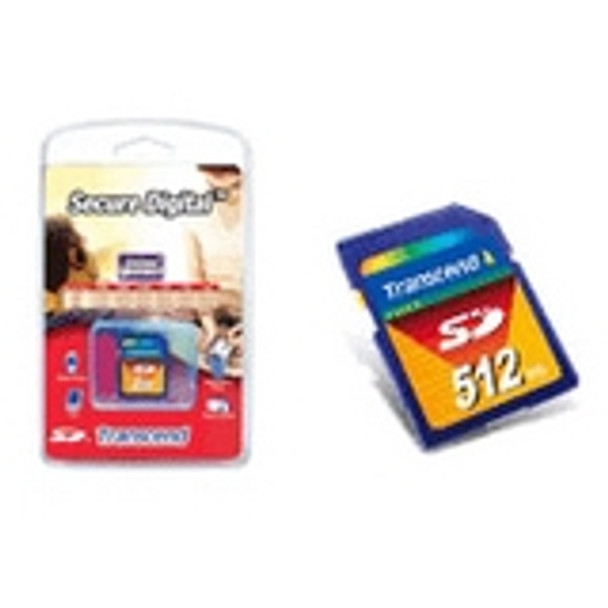 TS512MSDC Transcend 512MB SD Flash Memory Card