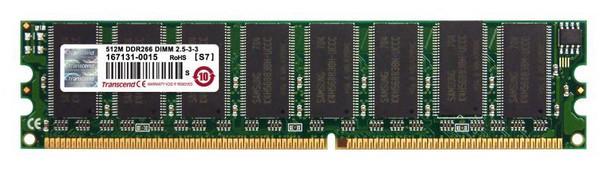 512MB-ECC-PC2100 Transcend 512MB DDR Registered ECC PC-2100 266Mhz Memory