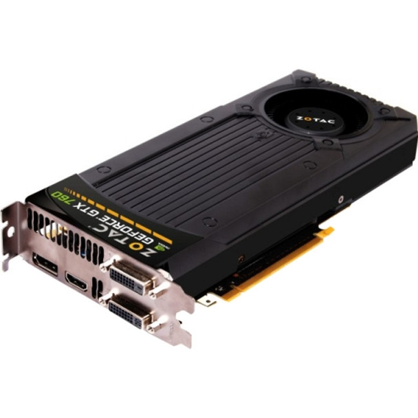 ZT-70401-10P Zotac GeForce GTX 760 Graphic Card 993 MHz Core 2GB GDDR5 PCI Express 3.0 x16 Dual Slot Space Required