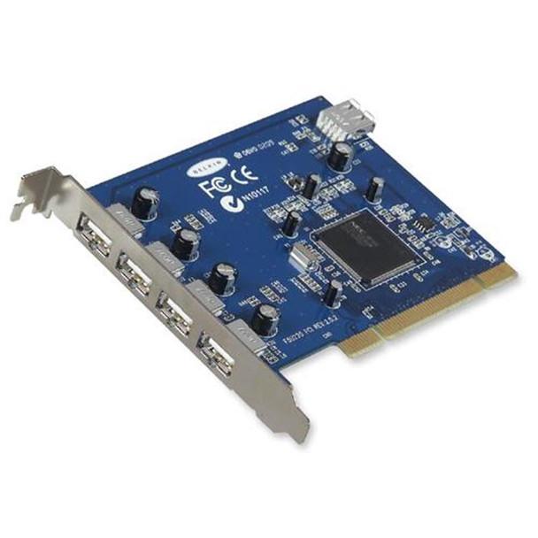 F5U220V Belkin Hi-Speed USB 2.0 5-Ports USB Adapter Internal PCI Card (Refurbished)