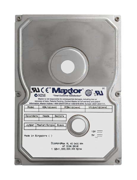 33073H3 Maxtor 30GB 5400RPM ATA 100 3.5 2MB Cache DiamondMax Hard Drive