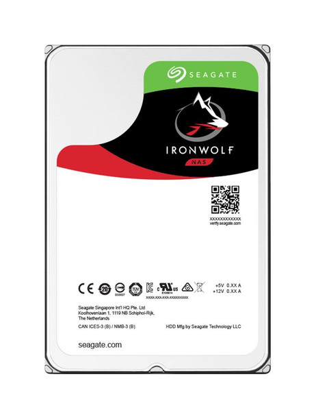 ST12000VN0008 Seagate IronWolf NAS 12TB 7200RPM SATA 6Gbps 256MB Cache (512e) 3.5-inch Internal Hard Drive