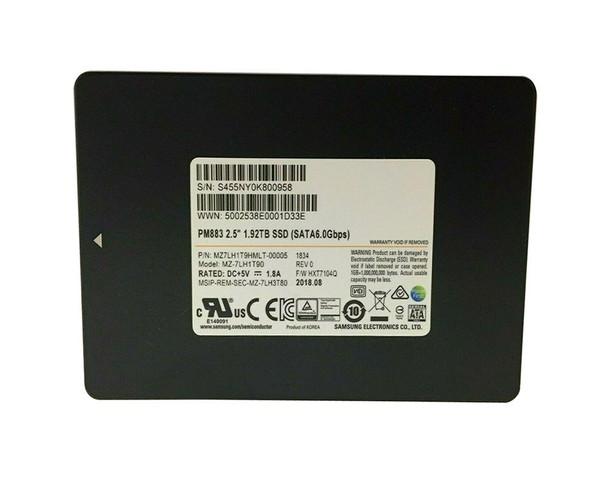 MZ7LH1T9HMLT-00005 Samsung PM883 MZ7LH1T9HMLT 1.92TB Solid State Drive SATA (SATA/600) Internal 550 MB/s Maximum Read Transfer Rate 520 MB/s Maximum Write Transfer Rate 256-bit Encryption Standard