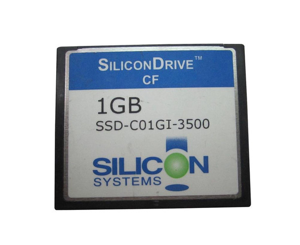 SSD-C01GI-3500 SiliconSystems SiliconDrive 1GB ATA/IDE (PATA) CompactFlash (CF) Type I Internal Solid State Drive (SSD) (Industrial Grade)