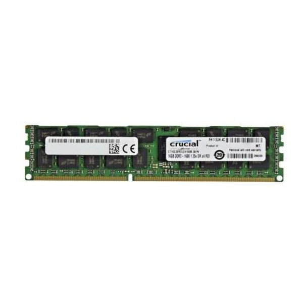 CT16G3ERSLD4160B Crucial 16GB DDR3 Registered ECC PC3-12800 1600Mhz 2Rx4 Memory