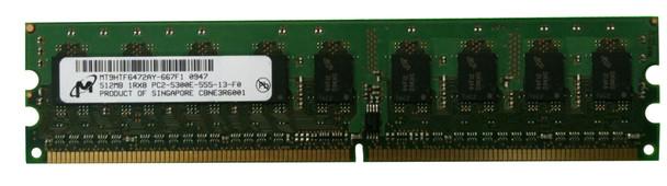 MT9HTF6472AY-667F1 Micron 512MB DDR2 ECC PC2-5300 667Mhz Memory