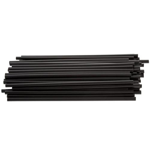 "Cell-O-Core Jumbo 7-3/4"" Black Plastic Un-Wrapped Straws (10/500)"