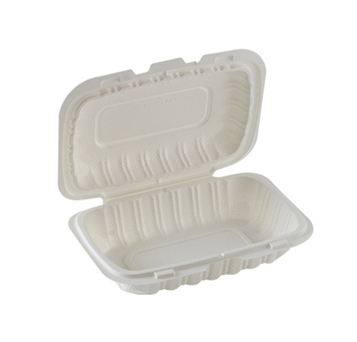 ReForm 9x6 Rectangular Hinged Mineral Filled Poly Pro Container (200/cs)