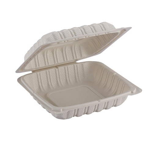 ReForm 8x8 Square Hinged Mineral Filled Poly Pro Container (150/cs)