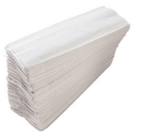 10x13 White C-Fold Towel
