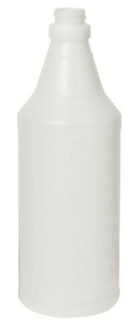 Spray Bottle Only, 32 oz. graduated, round, 28/400 neck finish, translucent, HDPE