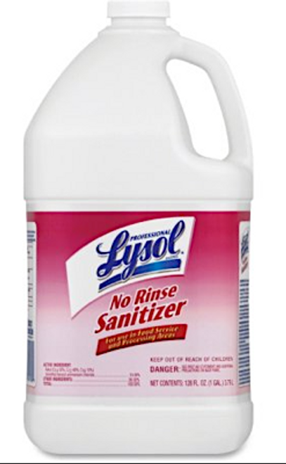LYSOL Professional No-Rinse Sanitizer (1:512) Makes 2,000 spray bottles
