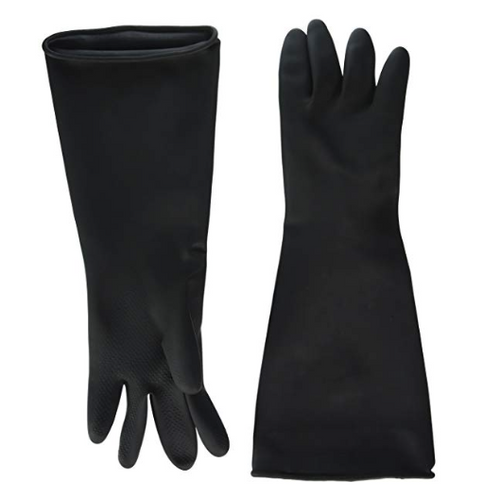 Black Natural Latex Pot Wash Glove