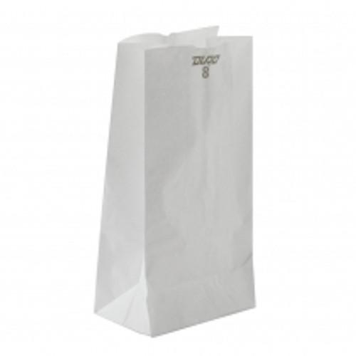 8lb White Paper Bag (500/pk)