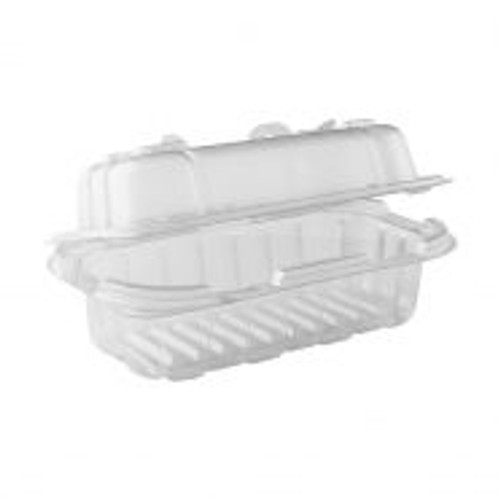 CRISP FOOD TECHNOLOGIES® FRY BABY ™ 7.5″ X 4.5″ CLEAR BASE/CLEAR LID HINGED CONTAINER (600/CS)