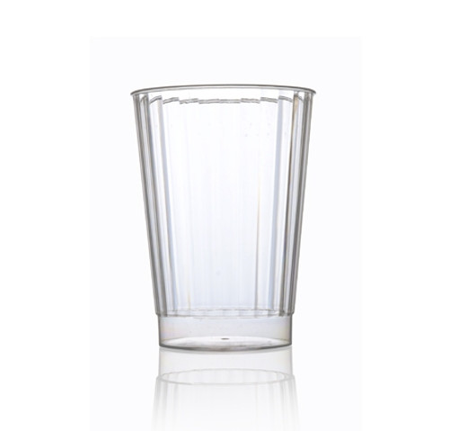 Fineline Renaissance 2410-CL 10 oz. Clear Hard Plastic Crystal Tumbler - 240/Case