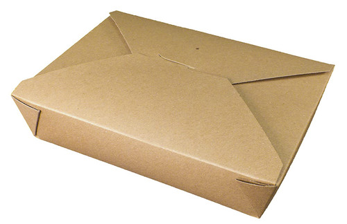 #2/48oz Kraft Fold-to-Go Box  (200/cs)