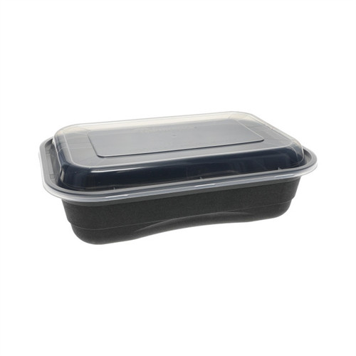 Versa2Go™ 8x6/36oz Microwavable Rectangular Container Combo, 150 bases / 150 lids
