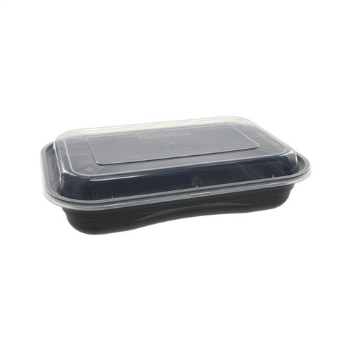 Versa2Go™ 8x6/27oz Microwavable Rectangular Container Combo, 150 bases / 150 lids