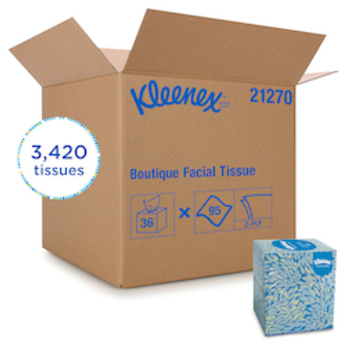 Kleenex Professional Facial Tissue Cube for Business (36 Box/95 Sheet/Box)