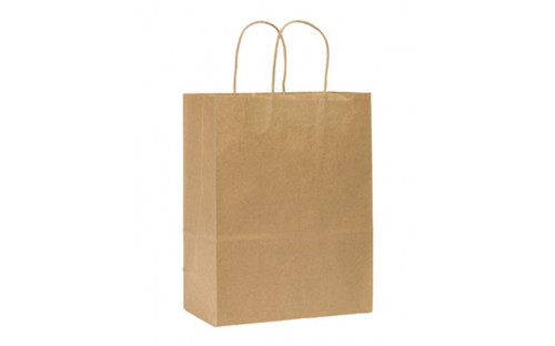 10x5x13 Kraft Handled Shopping Bag (250/BX)