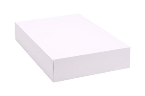 "12"" x 8"" x 2 1/4"" White Auto-Popup Donut / Bakery Box (200/bdl)"
