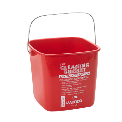6qt Red Kleen Pail for Sanitizer