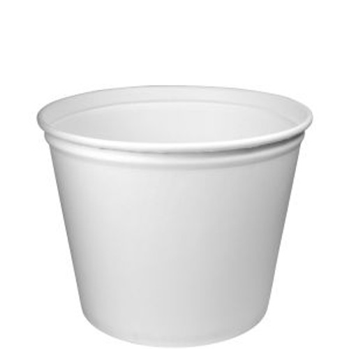 83oz White Paper - Non-Coated Double Wrapped Tub/Bucket (100/cs)