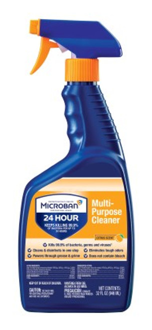 Microban Professional Multi-Purpose Sanitizing Trigger Spray - Citrus Scent (6/32oz)