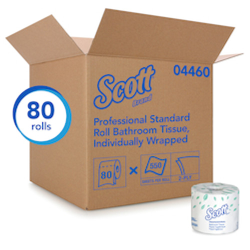 Scott® Essential 2-ply Standard Roll Toilet Paper (80/550sht)