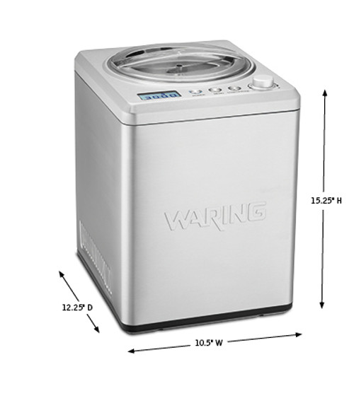 Waring® Commercial 2.5-Qt Compression Ice Cream Maker