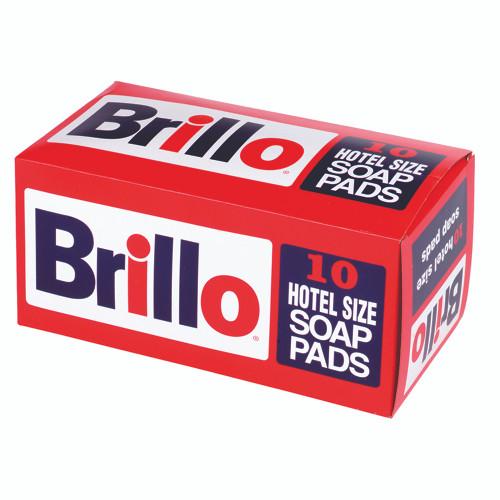 """Brillo® Soap Pad, 4"""" x 3"""", hotel size, steel wool (12per box/10 box per case)"""