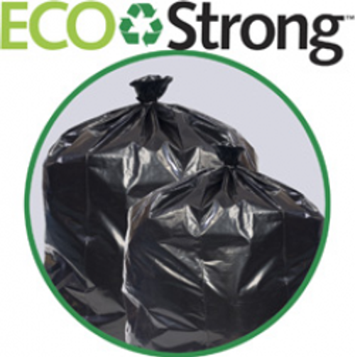 EcoStrong™ 38x58, 2mil Super Heavy Black Garbage Liner (50/cs)