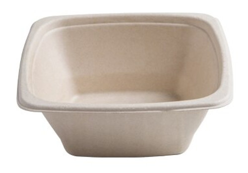 "Conserveware 7""/24oz TAN Bagasse Square Bowl (300/CS)"
