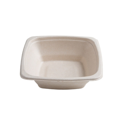 "Conserveware 7""/16oz TAN Bagasse Square Bowl (300/CS)"