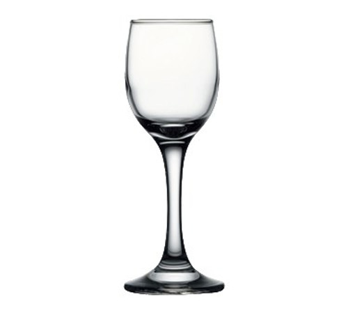 "Pasabahce Maldive Cordial Glass, 4-1/4 oz., 6-1/2""H (2 T; 2-1/2 B), glass, clear (12 each per case)"