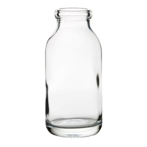 "Hospitality Glass Century Milk Bottle, 4-1/4 oz., 4""H (1-1/4""T; 1-3/4""B), glass, clear (6 each per case)"