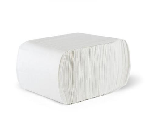 "Tidy Nap 6 x 12"" White Paper 1-ply Low-Fold Dispenser Napkin (8M/CS)"
