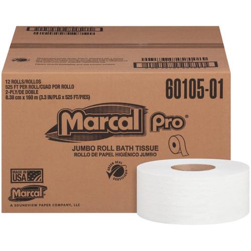 Marcal Pro 2-Ply Jumbo Roll Bath Tissue (12/525′)