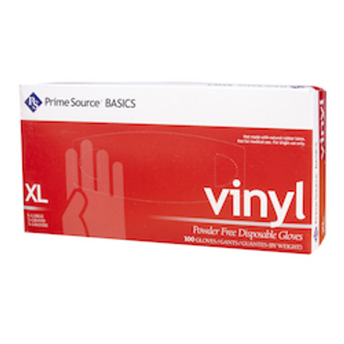 Prime Source® Basics Powder Free Clear Vinyl Glove, X-Large (10/100)