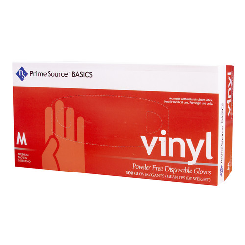 Prime Source® Basics Powder Free Clear Vinyl Glove, Medium (10/100)