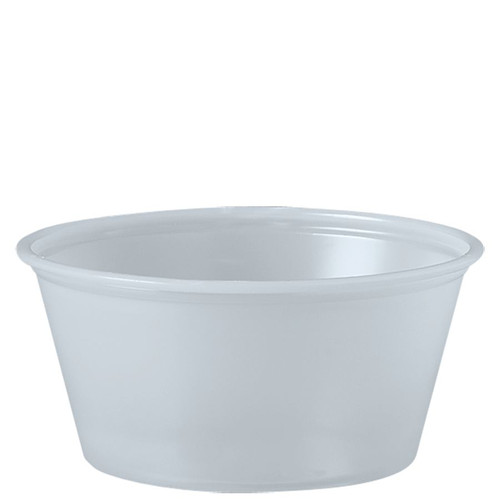 3-1/4oz Solo® Soufflés Plastic Portion Containers (2500/cs)