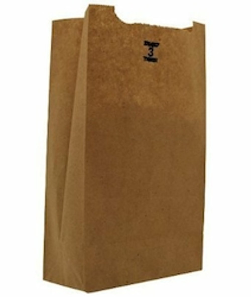 3lb Kraft Paper Grocery Bag 100% Recycled (500/pk)