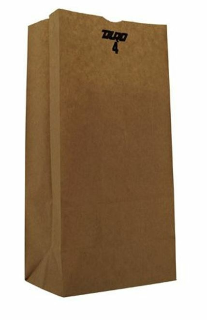 4lb Kraft Paper Grocery Bag 100% Recycled (500/pk)